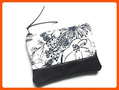 Blue Floral Leather Coin Purse, Small Change Wallet - Dont forget to travel (*Amazon Partner-Link)