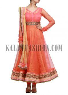 Anarkali dress with gotta patti lace