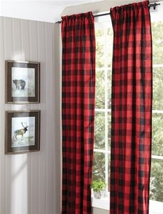 Cabin Place offers Rustic Curtains, Cabin Window Treatments, & Lodge Valances at discount cabin decor prices. Our large Rustic Curtains, Cabin Window Treatments, & Lodge Valances inventory has everything you need for your cabin. Plaid Bedroom, Plaid Nursery, Bedroom Decor, Lodge Bedroom, Bedroom Rustic, Bedroom Ideas, Rustic Curtains, Lined Curtains, Farmhouse Curtains
