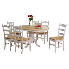 Just bought this for less than $500, normally $2000 can ya blame me :) woo hoo! Found it at Wayfair - Carnton 7 Piece Dining Set in White