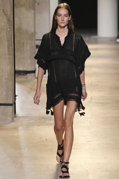 love that it's black and peek-a-boo Isabel Marant Spring 2015 RTW – Runway – Vogue