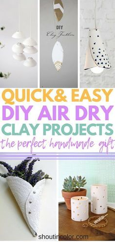 Air Dry Clay Projects Perfect As Gifts! Air Dry Clay Projects Perfect As Gifts! I was looking for the best DIY air dry clay projects and I found these tutorials and craft ideas for air dry clay. Homemade Clay, Diy Clay, Clay Crafts, Plaster Crafts, Diy Craft Projects, Clay Projects, Kids Crafts, Diy Air Dry Clay, Fairy Furniture