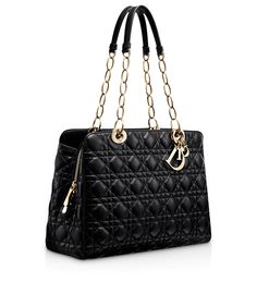 "DIOR SOFT - Large black leather ""Dior Soft"" zipped tote bag"