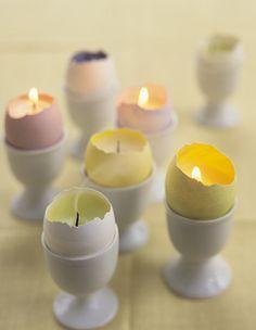 easter egg candle holders egg shell martha stewart