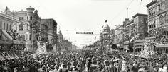 """New Orleans circa 1907. """"The Rex pageant, Mardi Gras."""" Laissez les bons temps rouler!"""