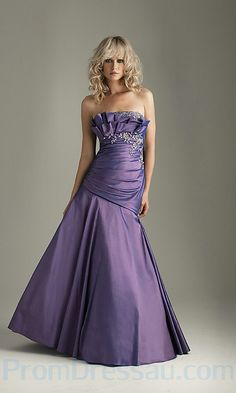 Strapless Drop Waist Prom Gown With Full Skirt Dresses 2013, Cheap Prom Dresses, Day Dresses, Homecoming Dresses, Cute Dresses, Bridal Dresses, Formal Evening Dresses, Strapless Dress Formal, Purple Fashion