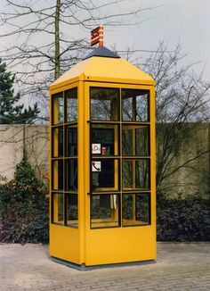 Telephone Booth 1986 Telephone booth for German post office Deutsche Bundespost  Richard Sapper