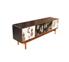 Lucy Turner is a furniture and surface designer located in Somerset Buffets, Lucy Turner, Black Sideboard, Creative Home, Wooden Furniture, Colorful Decor, Surface Design, Mid-century Modern, Black And White