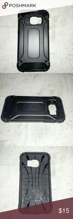 Samsung Galaxy S7 Military Black Hybrid Case Up for consideration is one Samsung Galaxy S7 Black Military Hybrid Case. This lightweight, slim, protective case offers a flexible tpu rubbery matte black bumper and a hard plastic outer frame.  Please make sure that you have the case that the case is listed for. Seller is not responsible for the case not fitting. Accessories Phone Cases