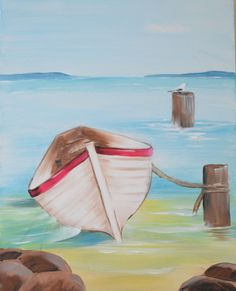 Out to Sea- A surprisingly easy but very professional looking painting for  every house!