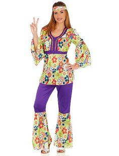 Déguisement Hippie                             vert Femme