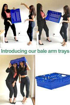 Take a look at our office girls trying to find new ways of utilising our bale arm tray! Grab one of our most popular products from prices around £5.95!