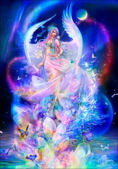 Fantasy art - Page 26 - Angels - Galleries Fairy Pictures, Angel Pictures, Beautiful Fantasy Art, Beautiful Fairies, Fantasy Girl, Fantasy Artwork, Fantasy Art Angels, Fantasy Creatures, Mythical Creatures