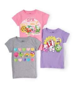 aa498ce2d10 Look at this Purple, Pink & Heather Shopkins™ Tee Set - Girls on