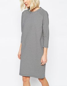 Image 3 ofSelected Maja Dress in Stripe with High Neck