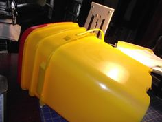 How to take logos off cat litter buckets for repurposing.