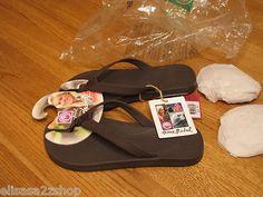 Women's crocs flip flops thongs Ocean Minded brown Meilani W 7 NEW sandal RARE