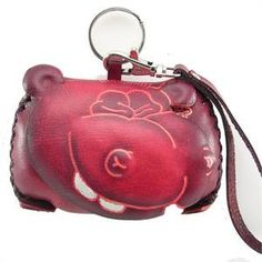 Leather Coin Purse HiPPo Wallet Wristlet Purse for by matryona, $21.99