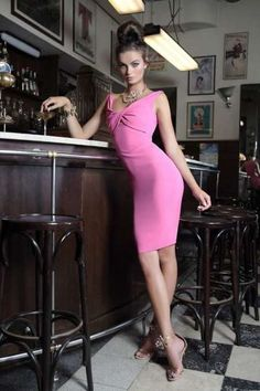 5e237513cf Moa Aberg for s s 2014 pink   black dress collection