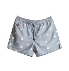 Mixed Dot Nikben Swim Shorts Light Grey