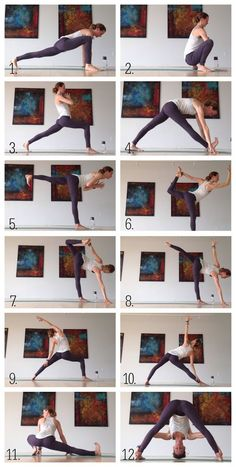 A dynamic yoga sequence