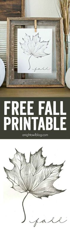 Maple Leaf Free Fall Printable | Timeless Rustic Decor For Fall