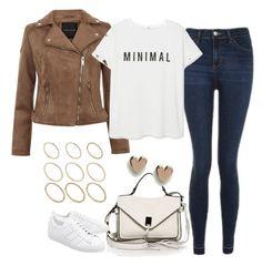 Untitled #4434 by keliseblog on Polyvore featuring polyvore fashion style MANGO Topshop adidas Originals Rebecca Minkoff ASOS clothing