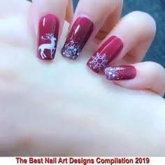 The Best Nail Art Designs Compilation. - - The Best Nail Art Designs Compilation. Nail Art Designs Videos, Nail Design Video, Nail Art Videos, Best Nail Art Designs, Nail Art Diy, Cool Nail Art, Diy Nails, Cute Christmas Nails, Christmas Nail Art Designs