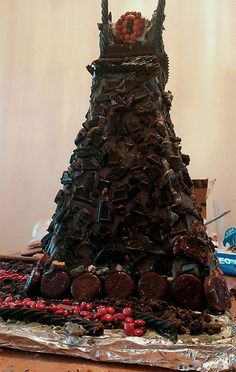 Gingerbread Tower Of Barad-Dur With Candy Eye Of Sauron