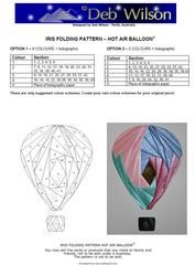 View Hot Air Balloon Iris Folding pattern Details
