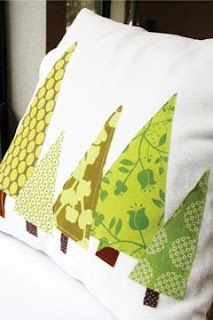 Christmas Tree Pillows ~ maybe a runner with trees on each end?  And matching placemats?