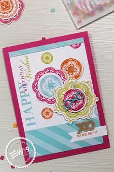 Dawn Woleslagle for Wplus9 featuring Lacey Layers and dies, Spring Post and Country Charm stamps.
