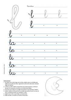 Alphabet Writing Practice, Learning Cursive, Cursive Writing Worksheets, School Worksheets, Cursive Handwriting, Cursive Letters, Letter Activities, Preschool Learning Activities, Learning French For Kids
