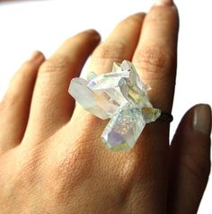 A crystal ring! I can imagine the damage of a fist fight then! lol Ouchie