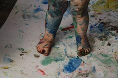 Galerie photo bébé peinture : Cours de peinture Lyon