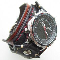 77c175204 Steampunk Watch For Men, Mens Cuff Watch, Gothic Wristwatch, Unusual Watches