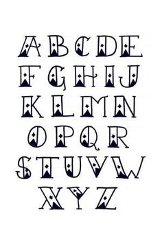 Sailor's Diamond Tattoo Font Alphabet by anastasia