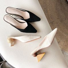Chiko Kymberlyn Pointed Toe Block Heels Clogs/Mules Pointed Toe Block Heel, Block Heel Loafers, Block Heels, Mules Shoes, Shoes Heels, Shoes Men, Shoes Sneakers, High Heels, Flats