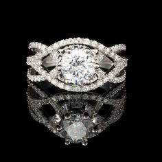 2 CTW Round Cut Diamond Engagement Ring in 14K by MajestyDiamonds1, $4909.00