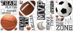 Room Mates All Star Sports Saying Wall Decal & Reviews | Wayfair