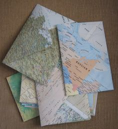 Coming to terms with book murder. Upcycle an old map via Meiphemera: