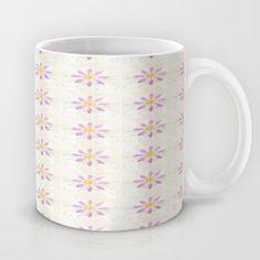 Old Meets New Mug by Nancy Smith - $15.00 #vintagelinen #flowers #mug