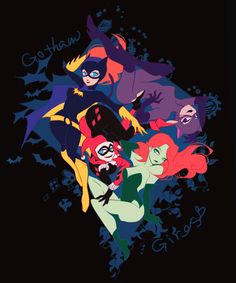 Lady Badasses of Gotham: Batgirl, Catwoman, Harley Quinn, and Poison Ivy