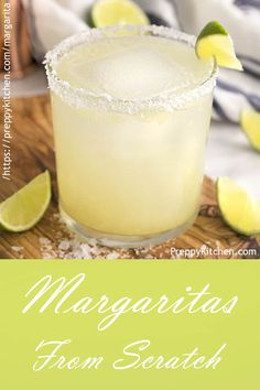 This made from scratch margarita recipe from Preppy Kitchen is destined to become your new favorite cocktail; perfectly smooth with the right balance of sweetness and acid. Enjoy it on the rocks, up, with salt or plain! Margarita Recipe For A Crowd, Pitcher Margarita Recipe, Classic Margarita Recipe, Perfect Margarita, Margarita Recipes, Cocktail Recipes, Sweet Cocktails, Fancy Drinks, Mango Margarita