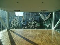 """""""Vidrio"""" intervención en fachada del Museo Caraffa,"""