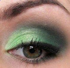 ST.Patrick day makeup! :)))
