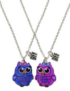 Bff Polka Dot Owl Necklaces | Girls Necklaces Jewelry | Shop Justice