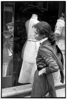 Henri Cartier-Bresson - Paris. French model BETTINA. 1951.