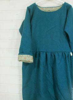 0269c494c0a2 Платья ручной работы. Ярмарка Мастеров - ручная работа. Купить сукно море.  Handmade.
