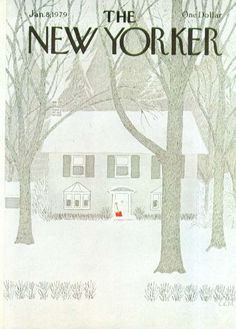 Charles E. Martin, snow shovel cover for The New Yorker